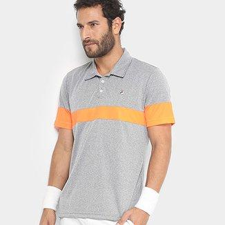 61758bed74 Camisa Polo Fila Block Melange Masculina
