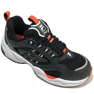 f55830ecf17 Tênis Fila Attrek Footwear Masculino - Preto e Laranja - 44