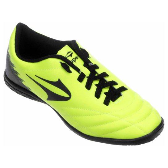 03bd0c27c7 Chuteira Futsal Topper Slick 2 Masculina - Verde Limão+Preto