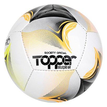 Bola de Futebol Society Topper Seleção BR 4996 Handmade