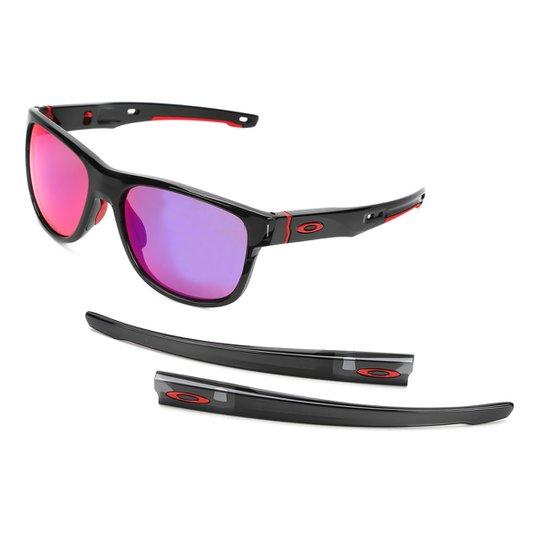 db1069d77cf24 Óculos de Sol Oakley Crossrange R Masculino - Preto e Laranja ...