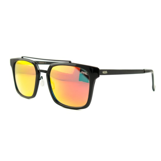 e5caf1c9f Óculos Von Dutch De Sol - Preto+Laranja