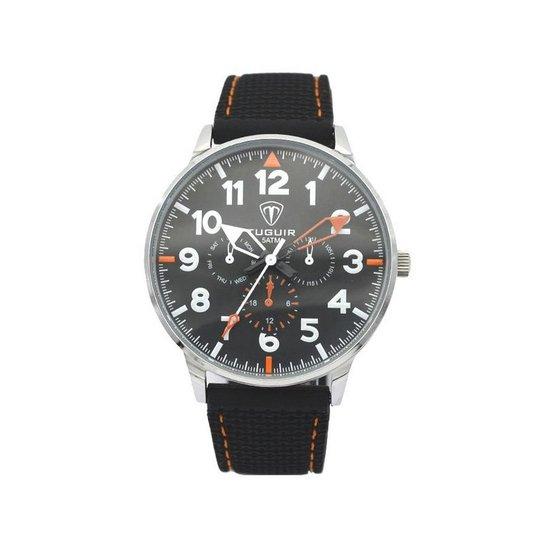 d8368ff3de4 Relógio Tuguir Analógico 5022 - Preto e Laranja - Compre Agora ...