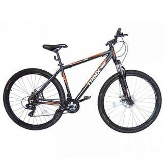 dcf551e35 Bicicleta Trinx STI 2.0 Aro 29 Freio DISC Susp 24V Kit Shimano Preto com  Laranja