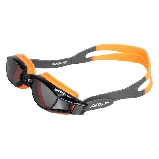 52fd4cadf Óculos de Natação Speedo Diamond - Preto e Laranja