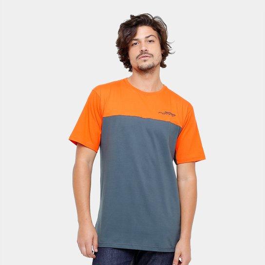 Camiseta Camaro Double Fifty Masculina - Laranja e Cinza - Compre ... 1370804f488