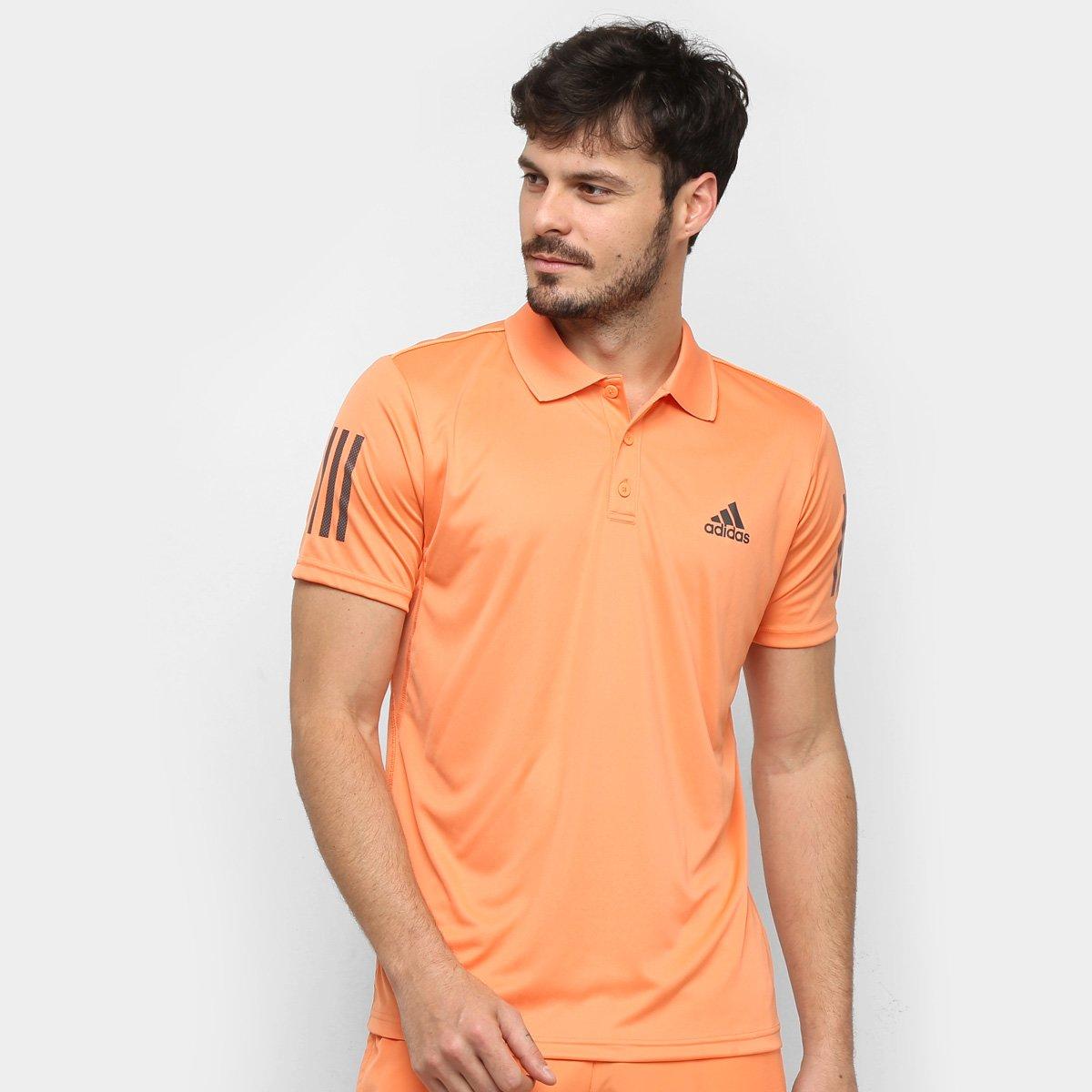Camisa Polo Adidas Club 3 Stripes Masculina