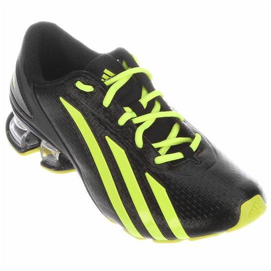 Tênis Adidas Meteor - Preto+Verde Limão 2bb83c5154c36