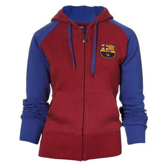 2c13cede4c Blusão Moletom Barcelona Licenciada Meltex Vermelho 1009 - Gg - Vinho+Azul