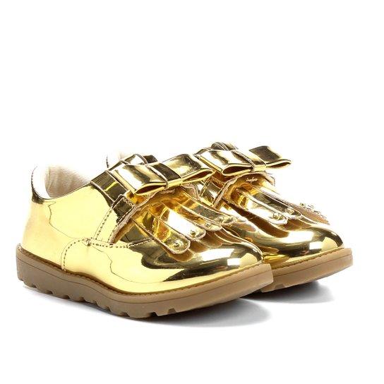 415a5183d6 Sapato Klassipé Infantil - Dourado e Bege - Compre Agora