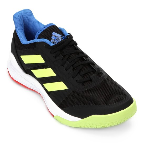 af8b3aeeea1 Tênis Adidas Stabil Bounce Masculino - Preto e Verde Limão - Compre ...