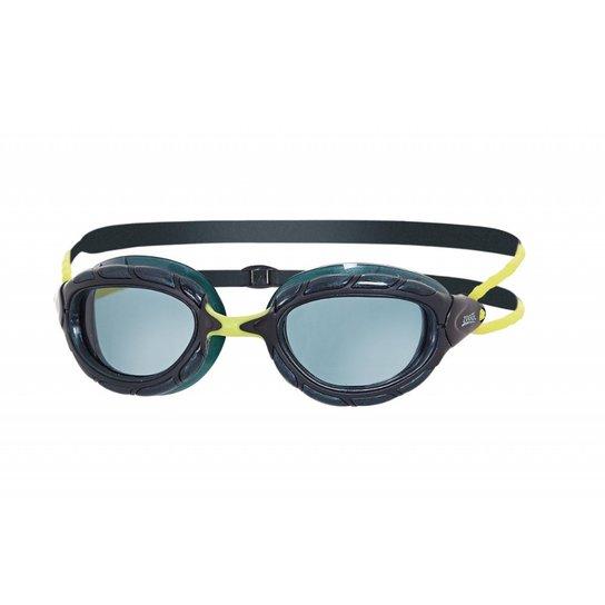 06c471f8922f3 Óculos De Natação Zoggs Predator Lente Fumê - Preto+Verde Limão