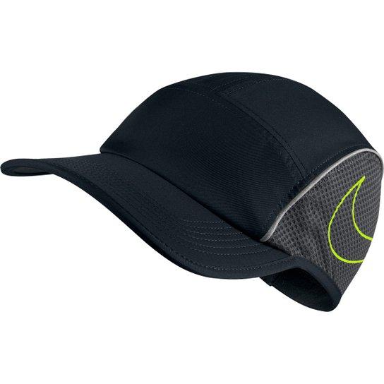 44f297d084 Boné Nike Aba Curva AeroBill AW84 - Preto e Verde Limão