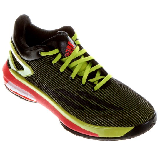 c4c567769 Tênis Adidas Crazy Light Boost Low - Preto+Verde Limão