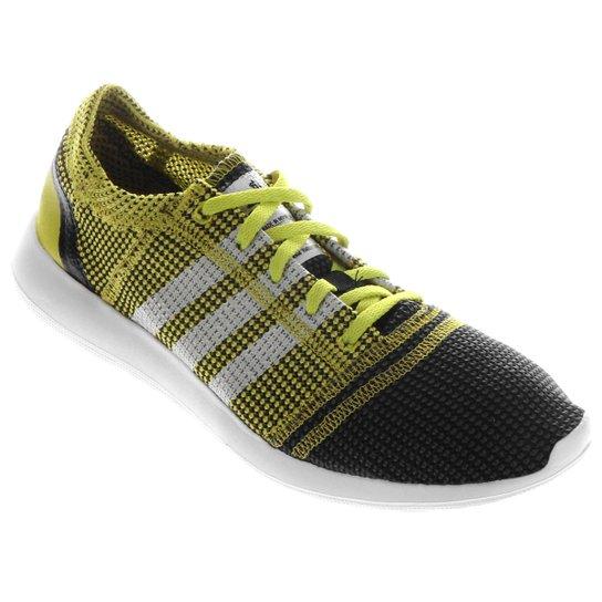 3c7012d4fbb77 Tênis Adidas Refine Tricot 2 - Preto+Verde Limão