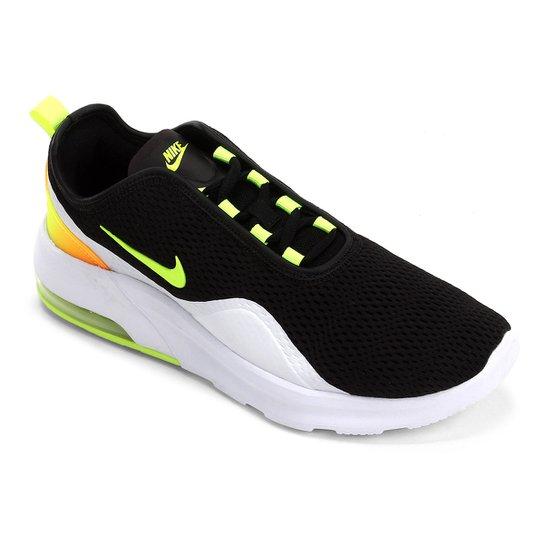 1f0fc228c6deb9 Tênis Nike Air Max Motion Masculino - Preto e Verde Limão | Netshoes