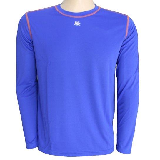 13aa80f186 Camisa Térmica Kanxa Proteção Uv+Anti Inseto 6707 - Azul Royal+Laranja