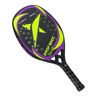 Raquete de Beach Tennis Drop Shot Elemento 50 cm Preta Verde e Roxa 3b9981296e6ba