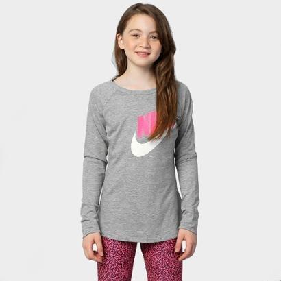 Camiseta Nike Girls J M/L Infantil