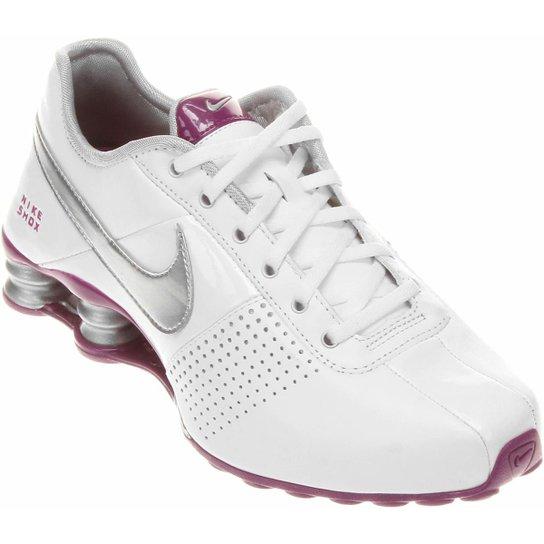 0e8a0486848 Tênis Nike Shox Deliver - Branco+Violeta ...