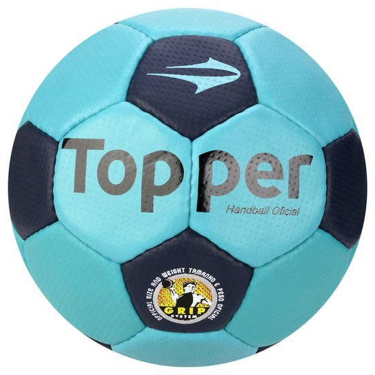 24f9dede29 Bola de Handebol Topper Oficial C C - Azul Turquesa+Marinho