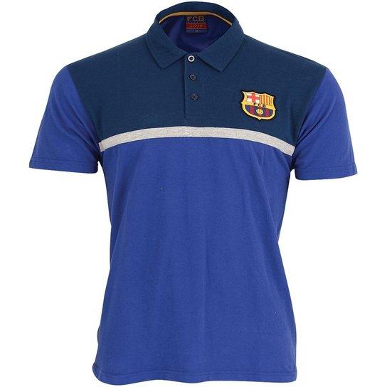 Camisa Polo Barcelona Licenciada Meltex 1339A Azul - Compre Agora ... c2f823b018647
