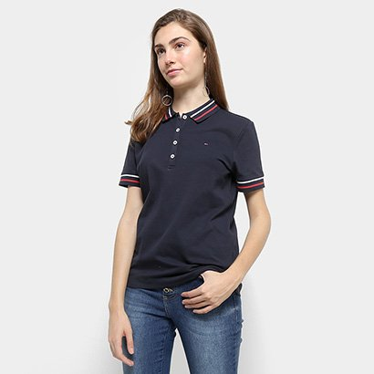 Camisa Polo Tommy Hilfiger Listras Feminina
