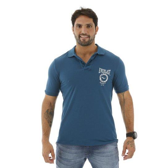 e66d7fc47d Camisa Polo Everlast Algodão Masculina - Azul e Marinho - Compre ...