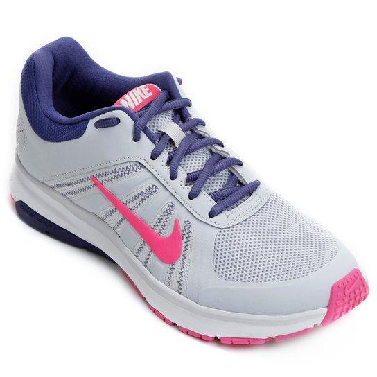 665f36bb3c876 Tênis Nike Dart 12 MSL Feminino - Cinza e Rosa - Compre Agora