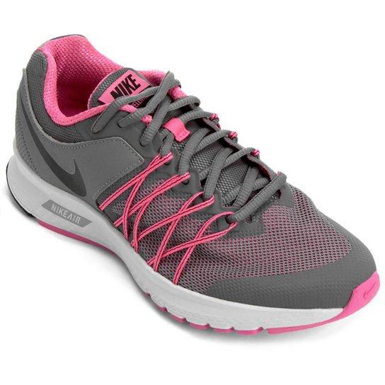 6e1ffbfa90 Tênis Nike Air Relentless 6 MSL Feminino - Grafite e Rosa - Compre ...