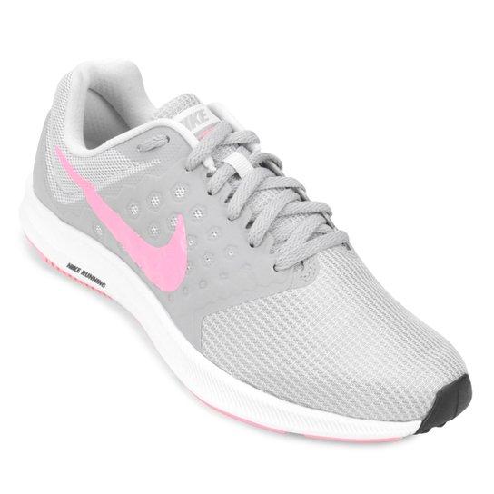 1f41777971 Tênis Nike Downshifter 7 Feminino - Cinza e Rosa | Netshoes