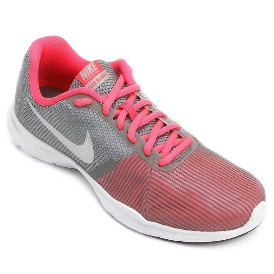 Tênis Nike Flex Bijoux Feminino - Cinza e Rosa - Compre Agora  2e4e388fd72a6