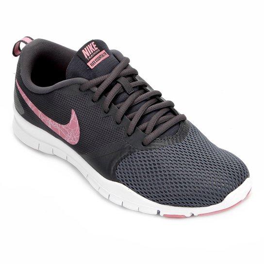 8854cd4773383 Tênis Nike Flex Essential TR Feminino - Cinza e Rosa - Compre Agora ...
