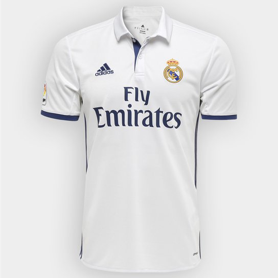 27ea28d488 Camisa Real Madrid Home 16/17 s/nº Torcedor Adidas Masculina | Netshoes