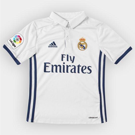 Camisa Real Madrid Infantil Home 16 17 s nº Adidas - Compre Agora ... 71814c9df9120