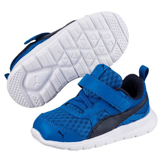 Tênis Infantil Puma Flex Essential V - Azul e Marinho - Compre Agora ... d07c5b154829c