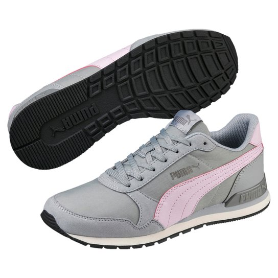 Tênis Puma St Runner V2 Nl - Cinza e Rosa - Compre Agora  a90f8dcbb2205