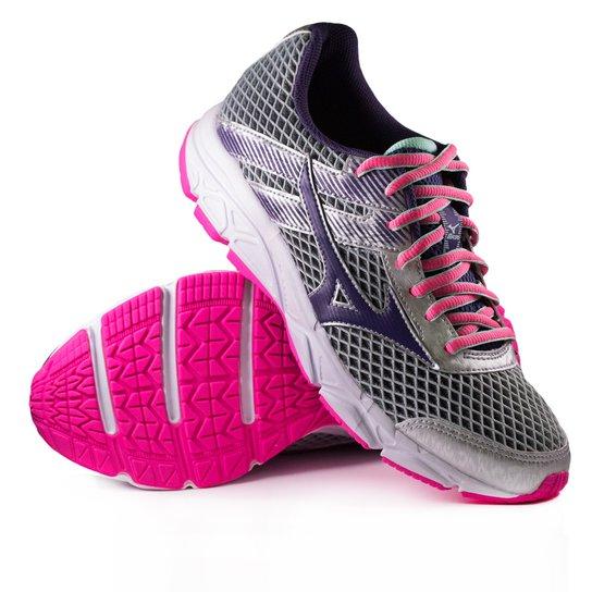 compre tenis mizuno cinza e rosa netshoes c319c08b4eafc8 - mtvnewsbd.com 18f8a4d5de99a