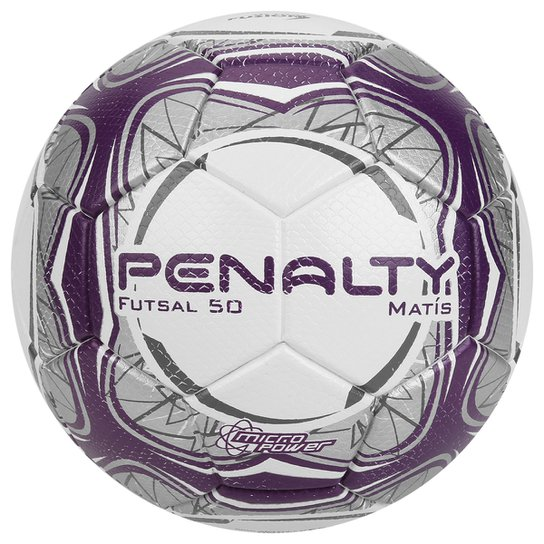 920edf4623daf Bola Futsal Penalty Matis 50 Ultra Fusion Sub-9 Infantil - Branco+Roxo