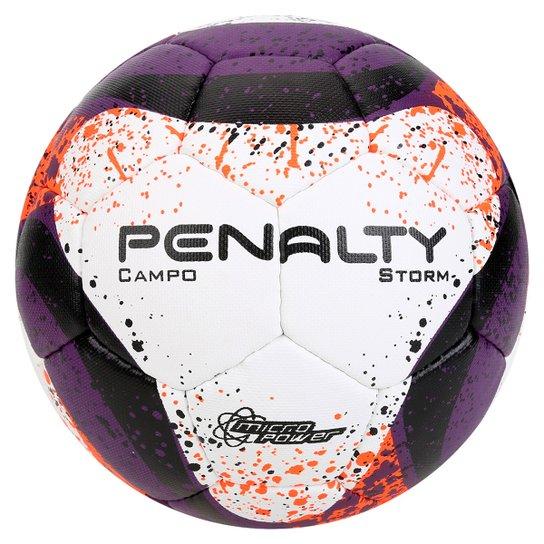 Bola Futebol Campo Penalty Storm Com Costura à Mão 7 Nº3 - Roxo+Laranja 07a633a268fbe