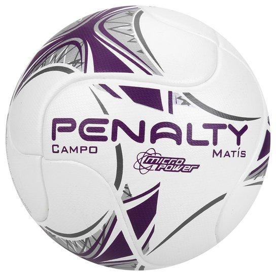 27da2b3a41 Bola Futebol Campo Penalty Matis Termotec 7 - Branco e Roxo - Compre ...