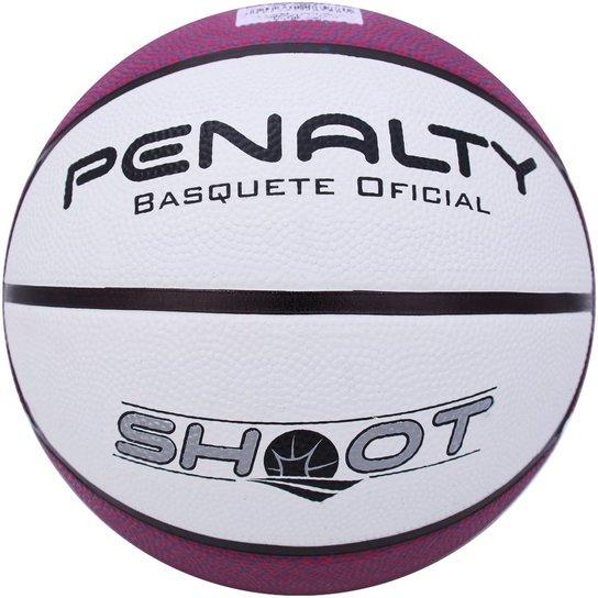 Bola Penalty Basquete Shoot NAC VI - Branco e Roxo - Compre Agora ... 3390519319b03