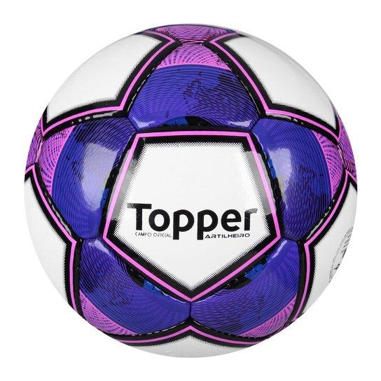 Bola Topper Artilheiro Campo - Branco e Roxo - Compre Agora  4935a23960521