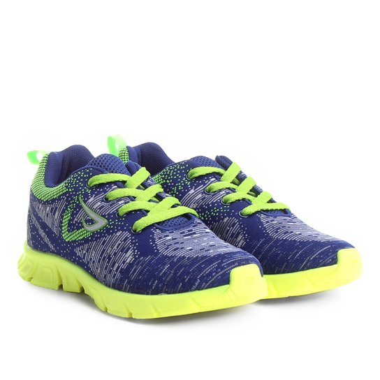 899ee675424 Tênis Infantil Ortopé New Jogging Tricot Masculino - Azul Royal+Verde Limão