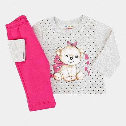 Conjunto Infantil Brandili  Blusão e Calça Moletom
