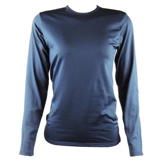 Camisa Térmica Feminina Segunda Pele Thermo Premium - Azul e Marinho ... 1e659f8037944