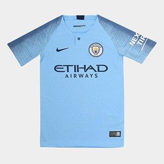 8165e4884f Camisa Manchester City Infantil Home 2018 s n° - Torcedor Nike