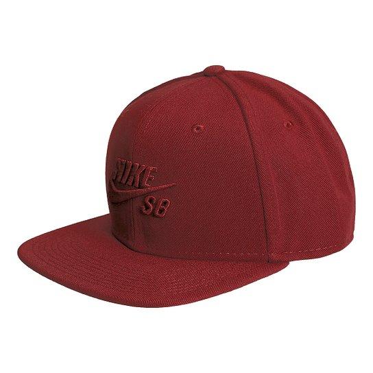 Boné Nike Aba Reta SB Icon - Vermelho Escuro - Compre Agora  4ca981ca288