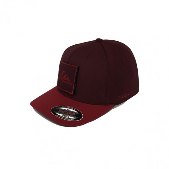 Boné Quiksilver Velcro Layers 2 - Vermelho Escuro 811d8f13c2a