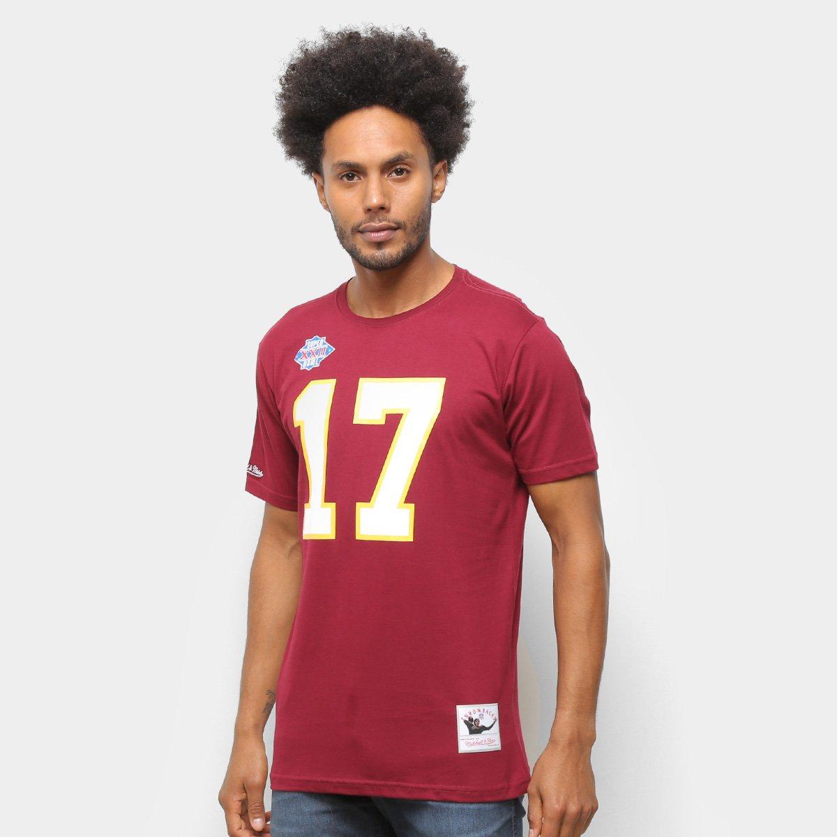 Camiseta NFL Washington Redskins nº 17 Doug Williams Mitchell & Ness Masculina